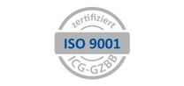 Certified Management System according to the international standard DIN EN ISO 9001:2015, Logo