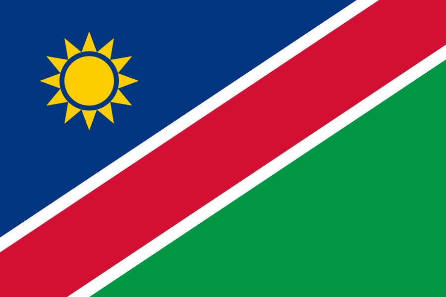 Unsere Partner, Namibia, Windhoek, Flagge